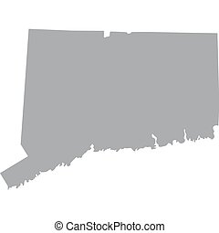 U.S. state of Connecticut - map of the U.S. state of ...