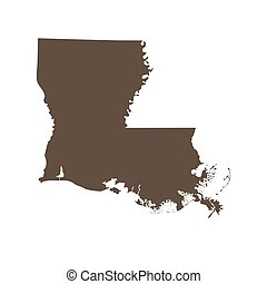 map of the U.S. state of Louisiana