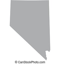 U.S. state of Nevada - map of the U.S. state of Nevada