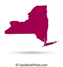Map of the U.S. state of New York on a white background.