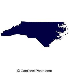 U.S. state of North Carolina - map of the U.S. state of...
