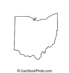 map of the U.S. state of Ohio. Vector illustration