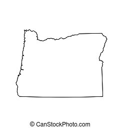 map of the U.S. state of Oregon. Vector illustration