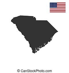 map of the U.S. state of South Carolina on a white...