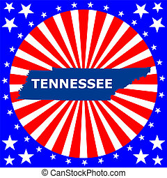 map of the U.S. state of Tennessee