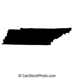 Map of the U.S. state of Tennessee on a white background.