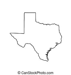 map of the U.S. state of Texas. Vector illustration