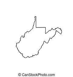 map of the u s state of west virginia