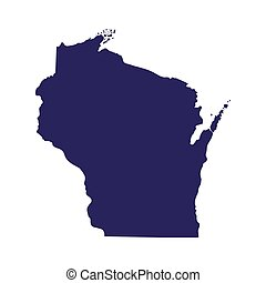 map of the U.S. state of Wisconsin