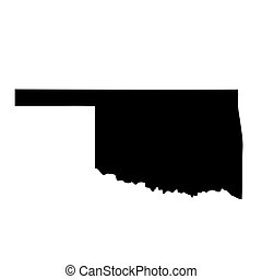 map of the U.S. state Oklahoma