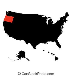map of the U.S. state  Oregon