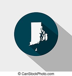 Map of the U.S. state Rhode Island - Map of the U.S. state...