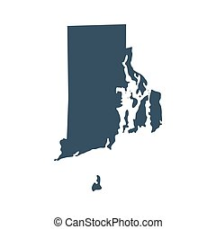 map of the U.S. state Rhode Island - map of the U.S. state ...