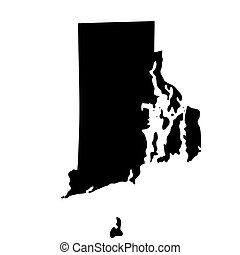 map of the U.S. state Rhode Island