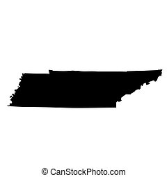 map of the U.S. state Tennessee