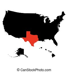 map of the U.S. state  Texas