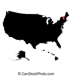map of the U.S. state Vermont