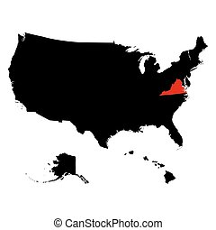 map of the U.S. state Virginia