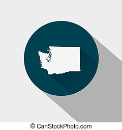 Map of the U.S. state Washington