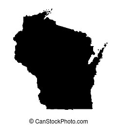 map of the U.S. state Wisconsin