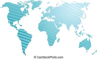 Map of the world illustration