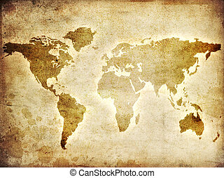 Leather of world map leather brown and furtexture of world map of the world gumiabroncs Gallery