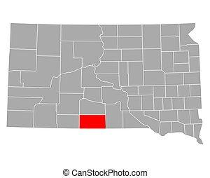 Map of Todd in South Dakota