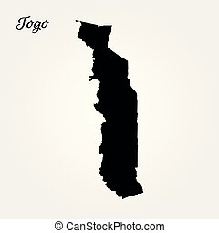 Map of Togo. Vector illustration. World map