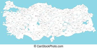 Map adana turkey Map of adana a province of turkey vector