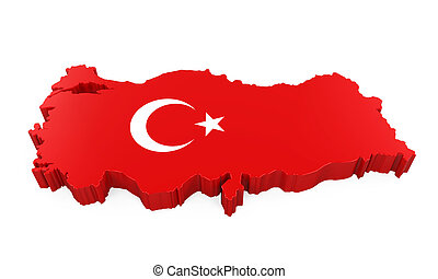 Map of Turkey Isolated