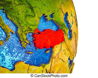 Map of Turkey on 3D Earth