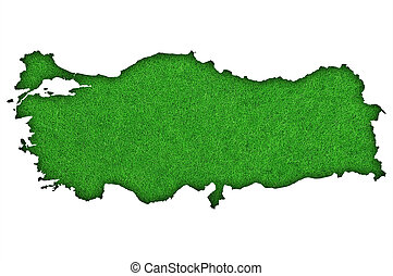 Map of Turkey on green felt