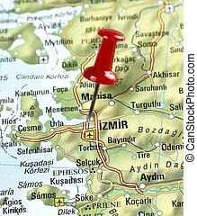 pin set on Izmir