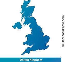 Map of UK United Kingdom