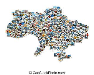 Map of Ukraine-collage travel photo