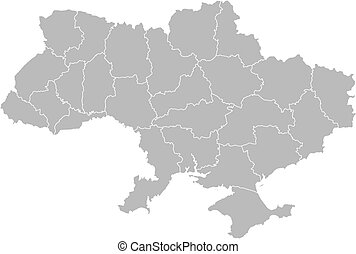Map of Ukraine - Political map of Ukraine with the several...