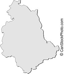 Map of Umbria (Italy) - Map of Umbria, a region of Italy.