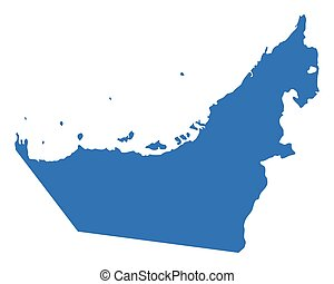 Map united arab emirates umm alquwain Map of united clipart