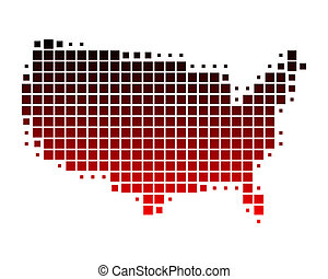 Map of United States of America