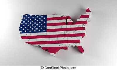 Map of United States of America. Political map with states....