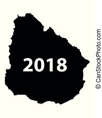 Map of Uruguay 2018