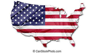 Map of Usa flag