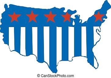 Map of USA in vector art. Vector illustration