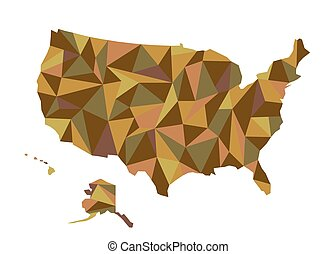 map of usa isolated vector ilration united states of america us map with