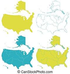 Map of USA set