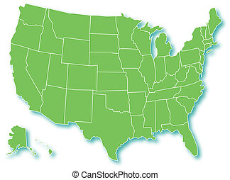 Detailed map of usa including alaska and hawaii. The detailed map of ...
