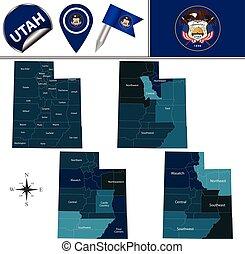 Map of Utah with Regions