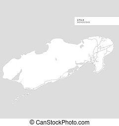 Map of Utila Island