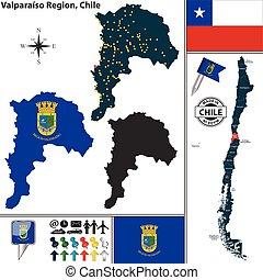 Map of Valparaiso, Chile