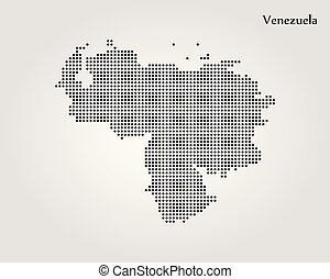 Map of Venezuela. Vector illustration. World map